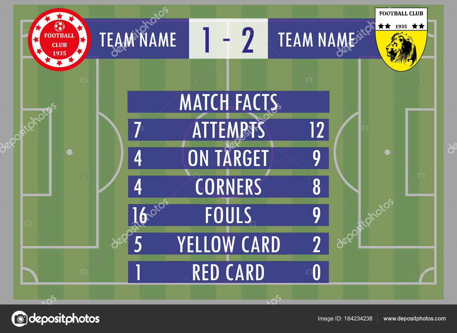 Soccer Football Match Infographic Elements Statistics