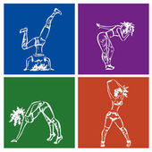 Dancehall Mädchen, von Hand gezeichnet, Stock Vektor-Illustration