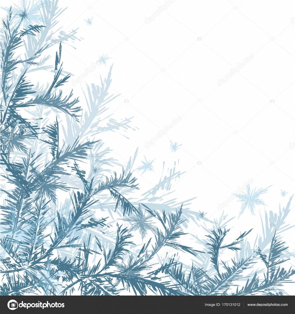 Marco invierno helada decoración — Archivo Imágenes Vectoriales ...