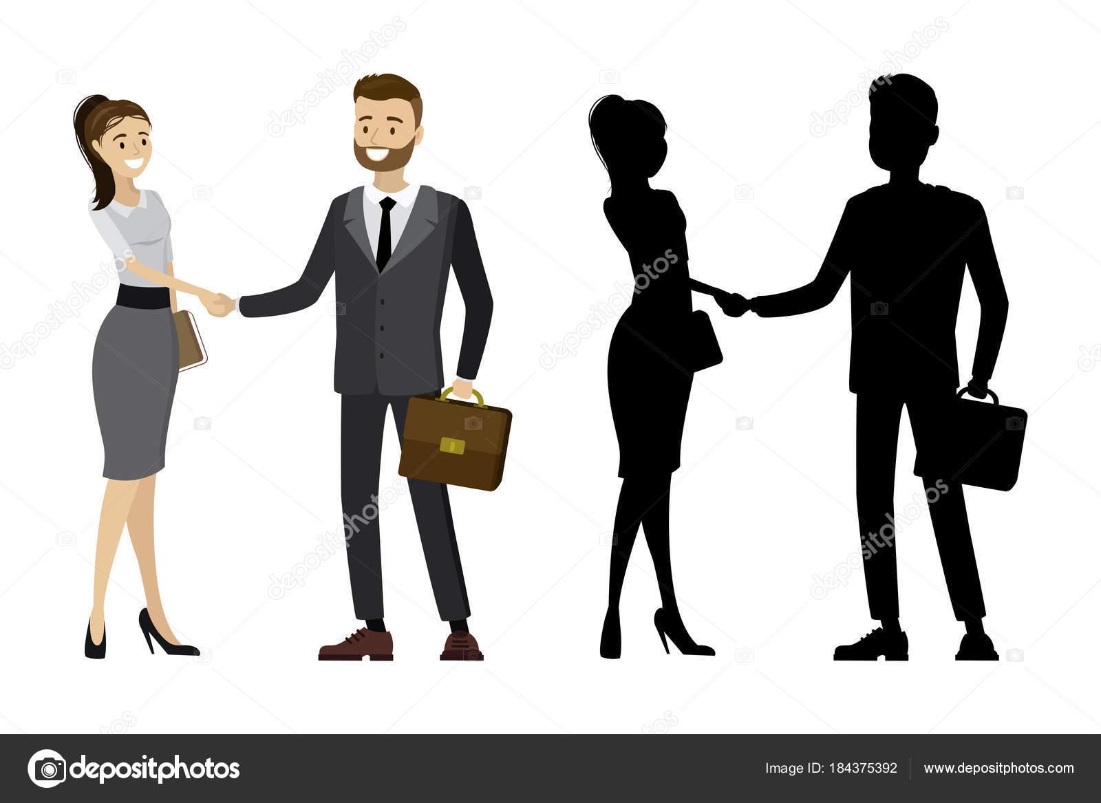 Imágenes: Siluetas De Hombres Y Mujeres De Negocios