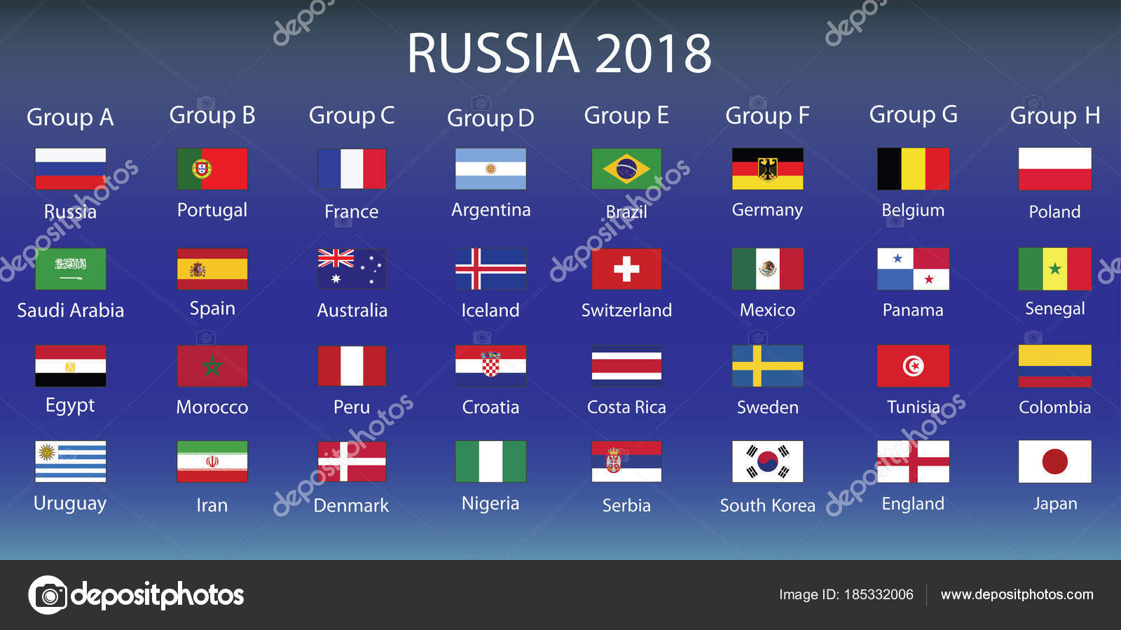 Russia 2018 Fixture >> infographic about FIFA World Cup Russia 2018 — Stock Vector © naum100 #185332006