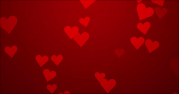Flying hearts. Red heart.