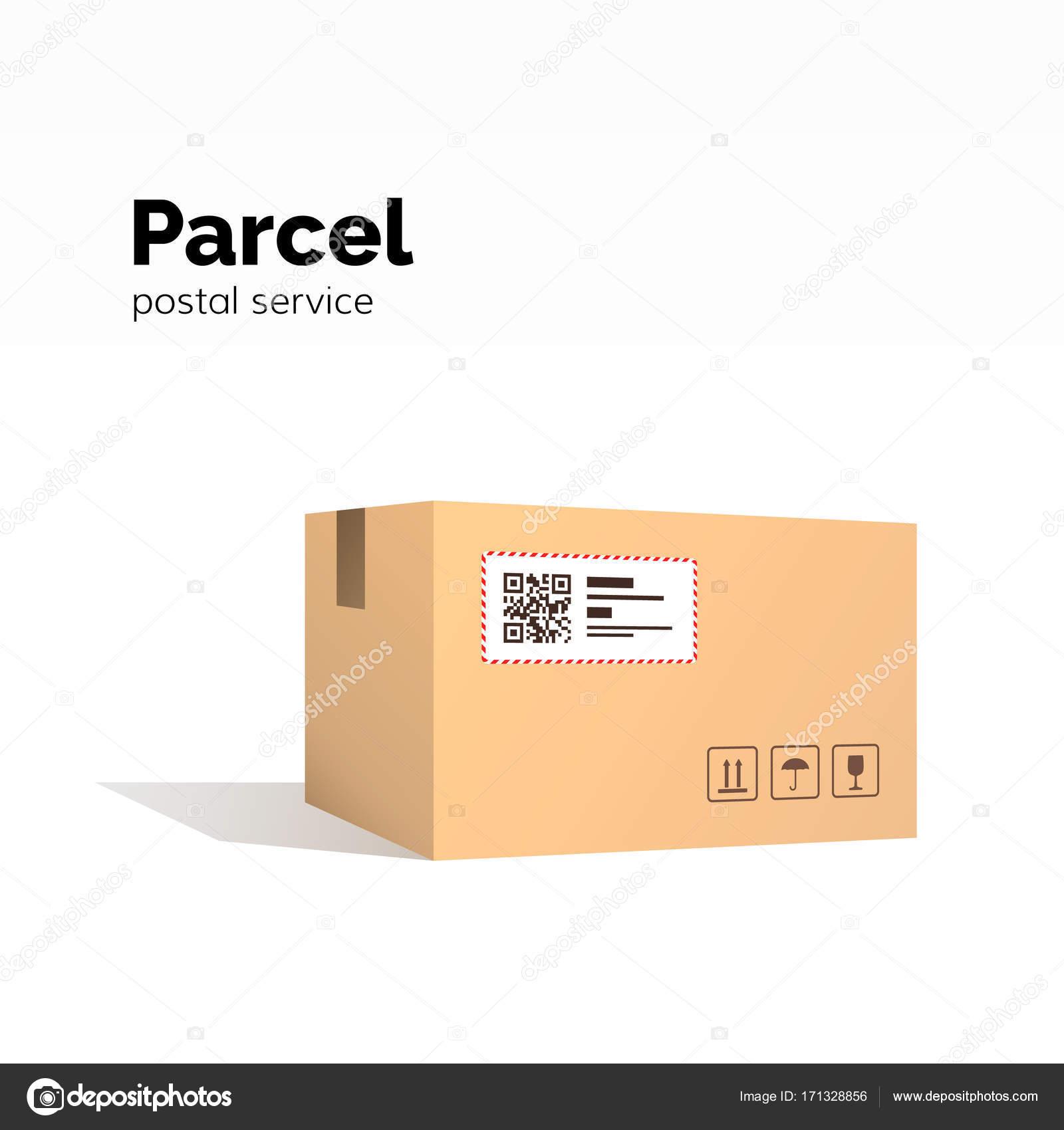 Ulaşım Parsel Karton Kutu Kapsayıcı Qr Kod Kapalı Parsel Kutusu