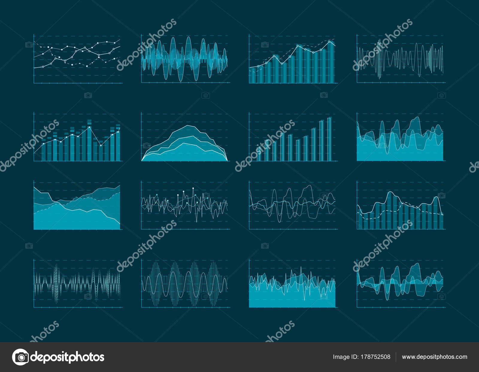 Negocios abstractos diagramas de análisis y estadísticas. Datos ...