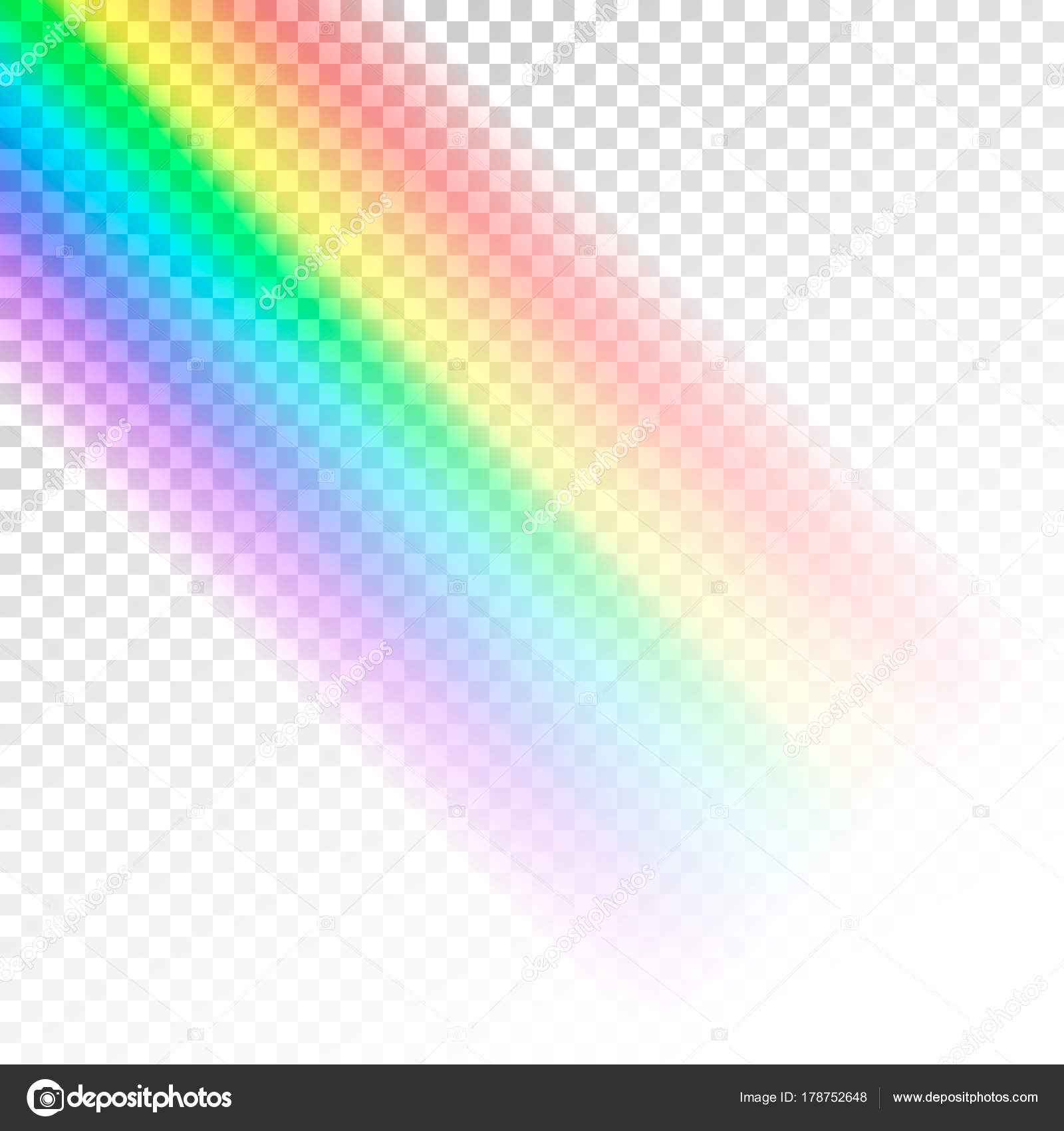 rainbow template abstract colorful spectrum of light vector