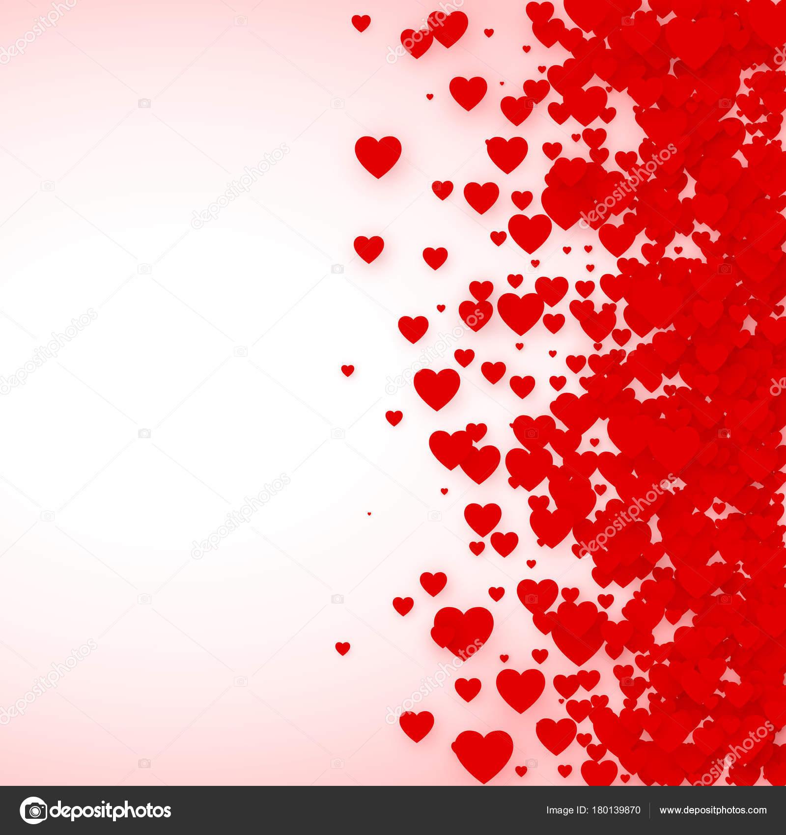 Marco del confeti corazón de bandera. St Valentines día corazones de ...