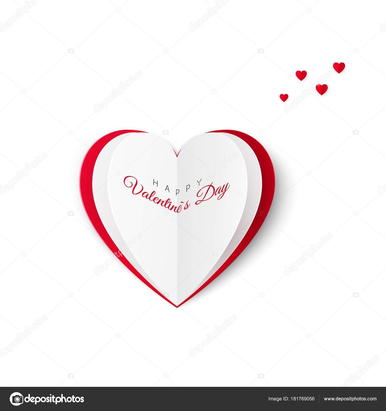Cartolina Dauguri Di San Valentino Con Liscrizione Di Un Felice