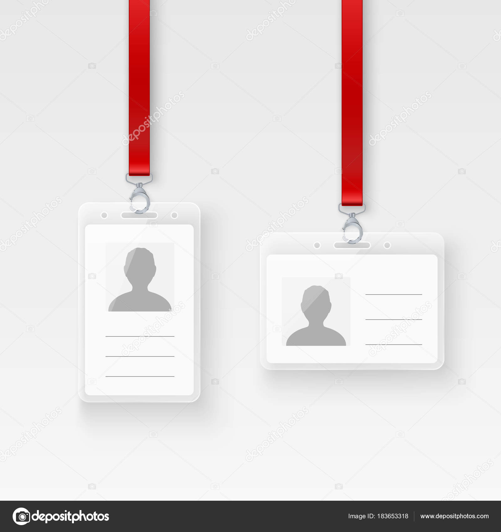 identification personal plastic id card empty id badge design with