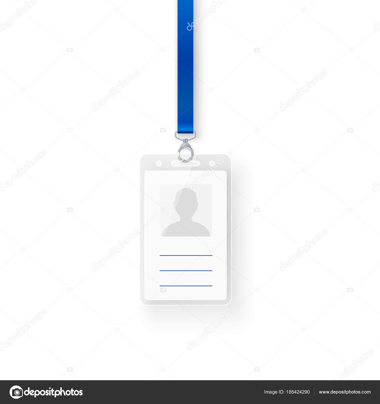 Identificación plástica DNI. Plantilla vacía de diseño de tarjeta de ...