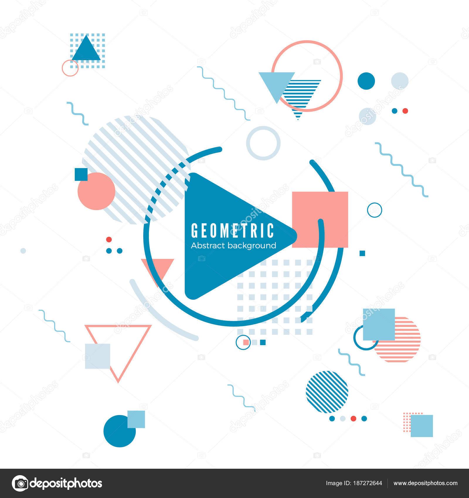 Geometrische Motion-Design-Konzept. Einfache Geometrie-Muster mit ...