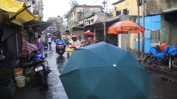 Street traffic in the center of Kolkata, India