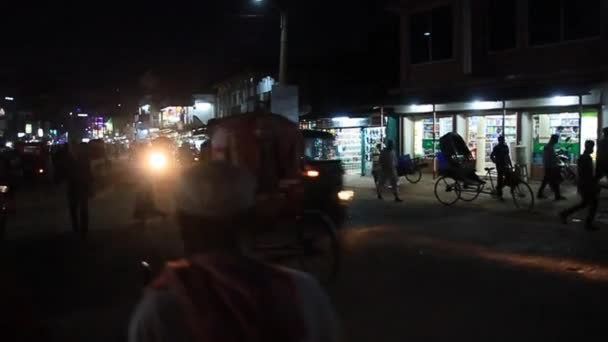Traffic in front of the Food Market in Srimangal, Bangladesh