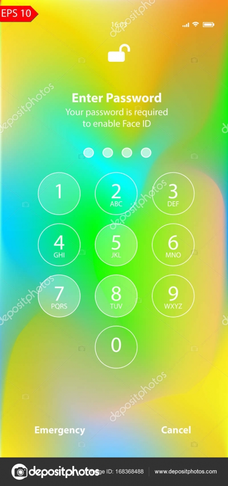 Bunte Sicherheit Sperre Bildschirm Iphone Wallpaper Iphone