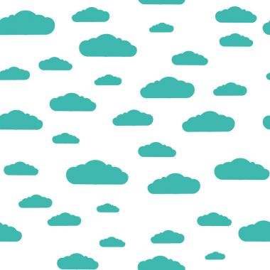 Seamless pattern. Clouds. White clouds pattern, blue background. Can be used for wallpapers, fills, gift wrapping, camphlet packing, drawing, web page background, surface texture. icon