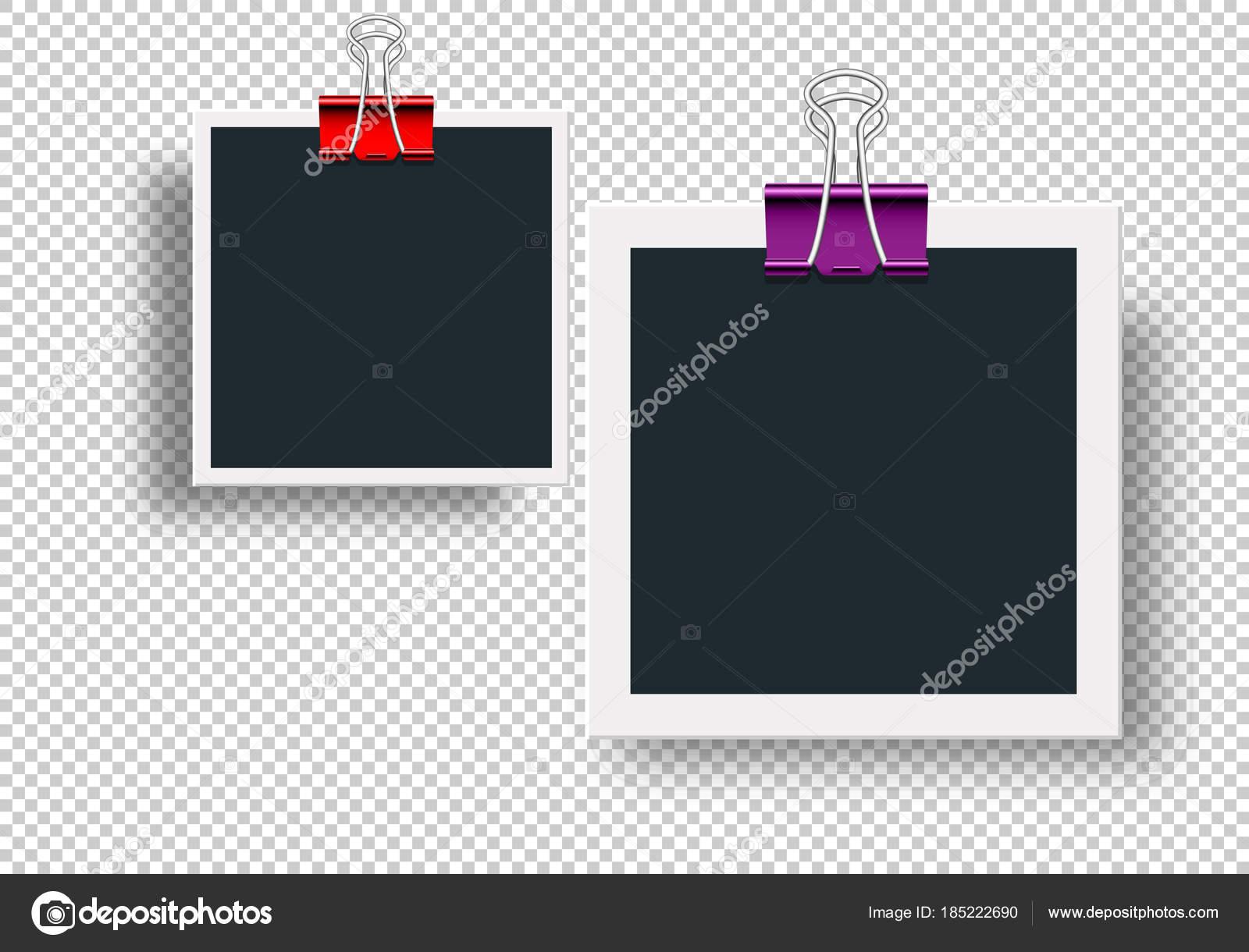 Marcos de fotos retro y metal vinculante clips para papel ...