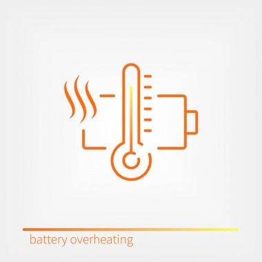 battery overheating icon