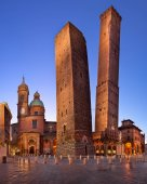 Photo Two Towers and Chiesa di San Bartolomeo in the Morning, Bologna