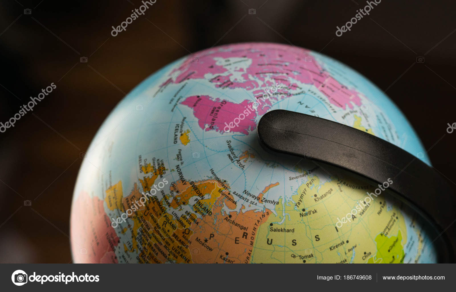 Earth globe map with focus on asia russia canada north pole earth globe map with focus on asia russia canada north pole stock gumiabroncs Choice Image