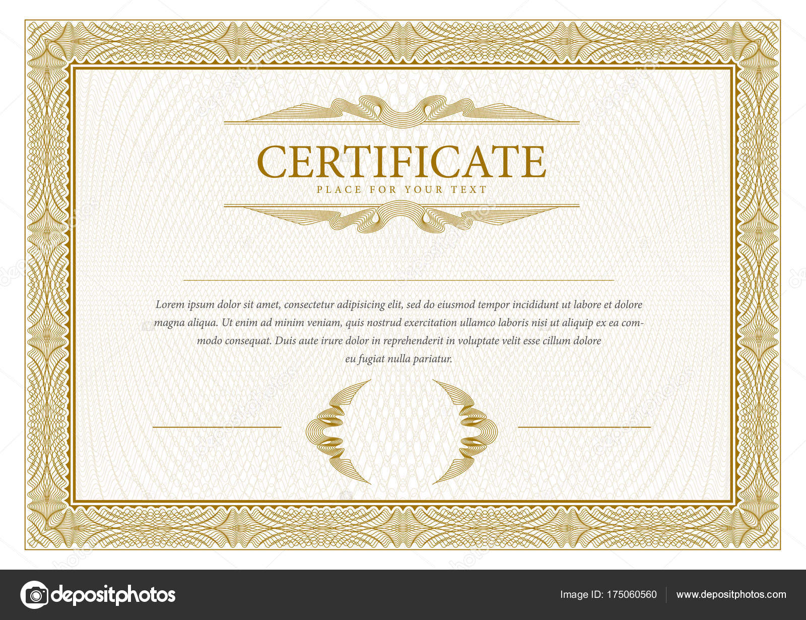 Zertifikat. Vorlage-Diplom-Währung-Grenze — Stockvektor © Sooolnce ...