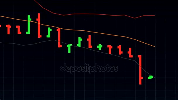 universal stock market price chart on black background - new quality financial business animated dynamic motion video footage