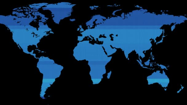 Hud screen blue earth world map on black background new quality hud screen blue earth world map on black background new quality world animated dynamic motion gumiabroncs Images