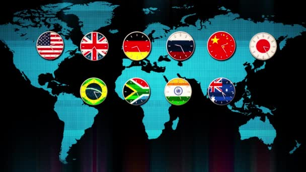 World main forex stock market clocks going in real time zones hud world main forex stock market clocks going in real time zones hud earth map on background gumiabroncs Images