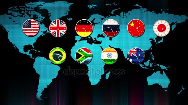 World main forex stock market clocks going in real time zones hud world main forex stock market clocks going in real time zones hud earth map on background gumiabroncs Image collections