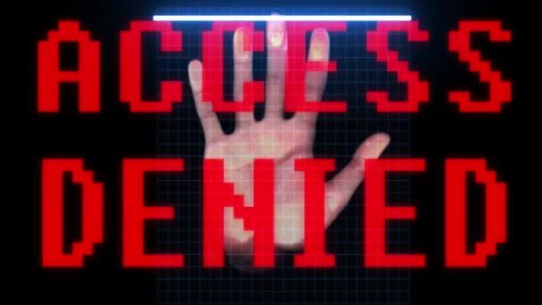 biometrických otisků prstů ruky skenování identitu a schválení