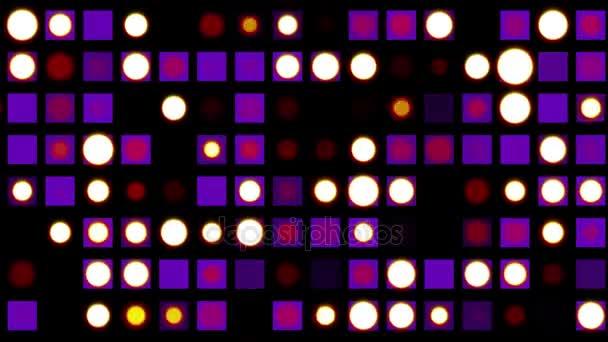 Bezešvá smyčka disco LED osvětlení blikající animace pozadí - nové kvalitní univerzální pohybu dynamickou animované barevné radostné taneční hudby dovolená video záběrů