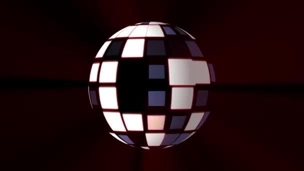 Bezešvá smyčka disco koule světla blikat animace pozadí - nové kvalitní univerzální pohybu dynamickou animované barevné radostné taneční hudby dovolená video záběrů