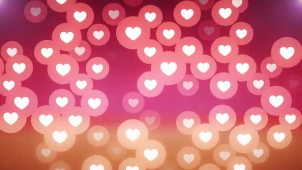 mnoho srdce tvar jako ikonu náhodné pohyblivé pozadí animace - nový jedinečnou kvalitu univerzální pohybu dynamickou barevné veselé taneční hudby dovolená video záznam