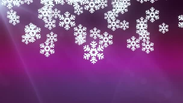 falling large snowflake animation background pink new quality shape universal motion dynamic animated colorful joyful
