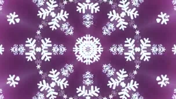 kaleidoscope large snowflake animation background seamless loop new quality shape universal motion dynamic animated colorful
