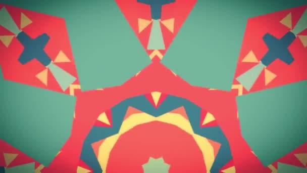 okrasné geometrické kaleidoskop etnické kmenové struktury animace - nové kvalitní retro vintage holiday nativní tvar barevné univerzální pohybu dynamický animovaný radostná Hudba video záběry