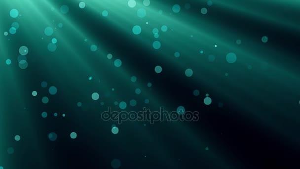 podvodní světelné paprsky a bubliny pozadí animace - nové kvalitní přírodní vyhlídku cool video záznam