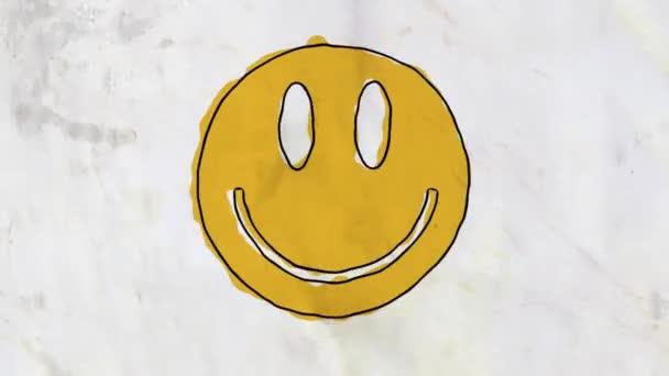 tažené bezešvé smyčka pozadí kreslené ručně animace grunge úsměv tvář... Nové kvalitní univerzální ročník stop motion dynamický animovaný barevné radostné cool video záznam