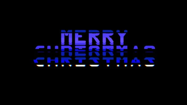 Merry christmas words glitch interference noise effect close up seamless  loop animation background - new quality retro vintage modern futuristic  wording typography video footage