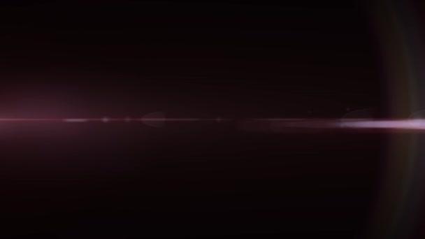 Razzi ottico movimento luci rosa orizzontale animazione di sfondo