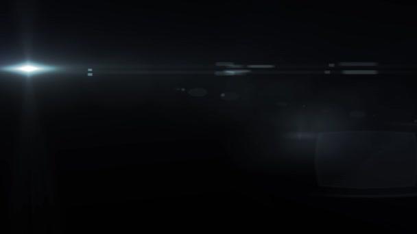 Razzi ottico movimento luci blu orizzontale animazione di sfondo