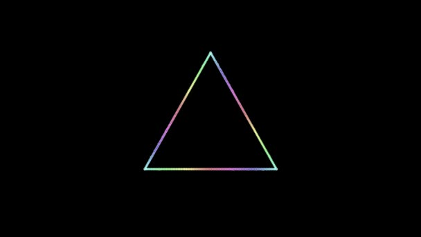 arcobaleno colorato audio triangolo onde animazione - nuova moto universale dinamico sfondo animato colorato gioiosa danza musica filmati