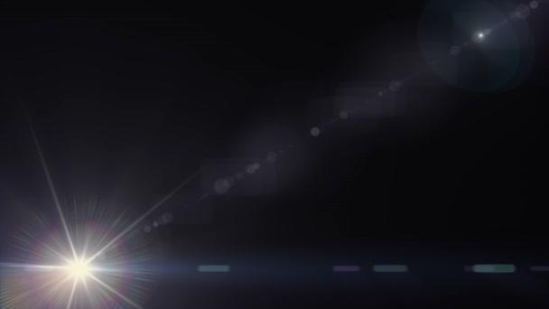 átlós mozgó fények optikai lencse trapéznadrág fényes animáció művészeti háttér hurok új minőségű természetes világítás lámpa sugarak hatása dinamikus színes világos videofelvétel