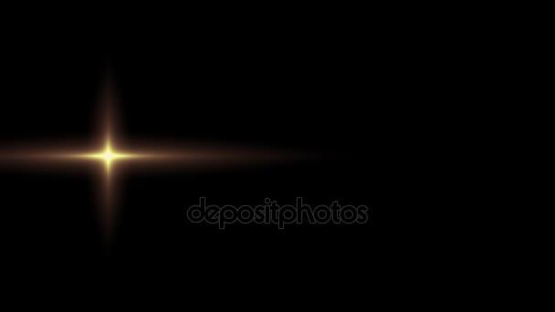 sole stella d oro solitario orizzontale spostando la lente ottica luci  razzi sfondo arte animazione lucido ... ba4ba95b2f