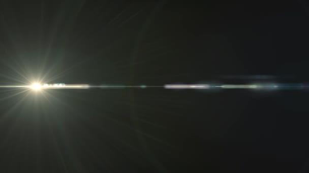 Orizzontale bianco luci lente ottica flares sovrapposizione