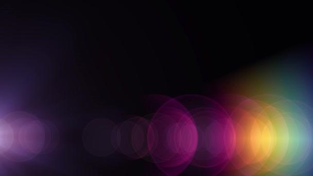 Arcobaleno di lato verticale lente ottica luci in movimento razzi sfondo  arte animazione lucido - nuova 815c415ff2