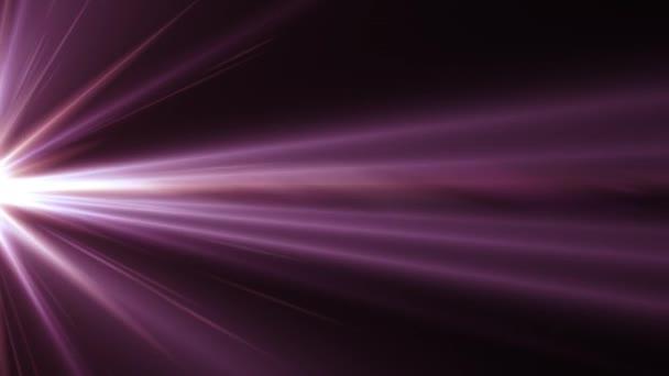 boční rotující paprsky světla optické čočky světlice lesklé bokeh animace umění pozadí bezešvé smyčka - nové kvalitní přirozené osvětlení lampy paprsky efekt dynamické barevné světlé video záběrů