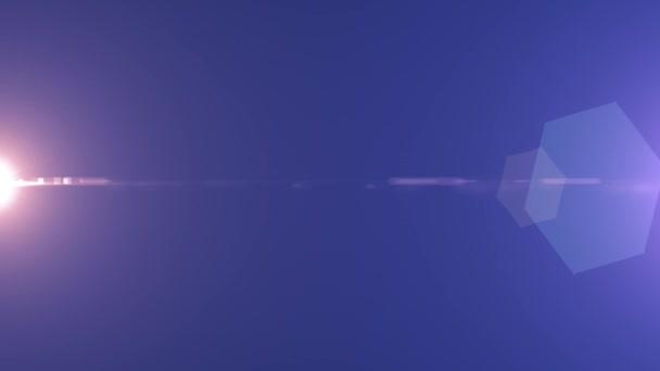 oldal villogó star nap sugarai fények optikai lencse trapéznadrág fényes animáció művészeti háttér hurok új minőségű természetes világítás lámpa sugarak hatása dinamikus színes világos videofelvétel
