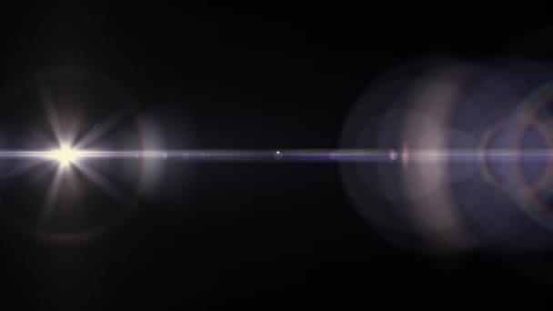 Razzi ottico movimento luci orizzontale sfondo bokeh brillante