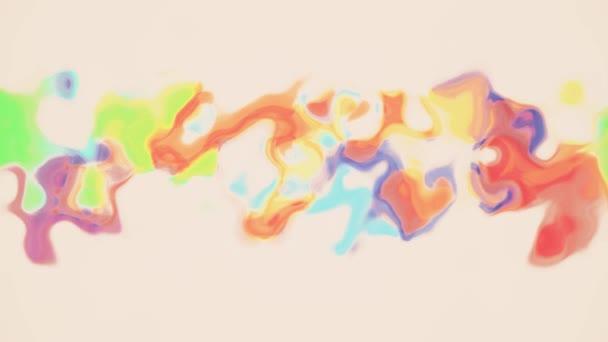 Digital Turbulent Rainbow Color Paint Splatter Mixing On White