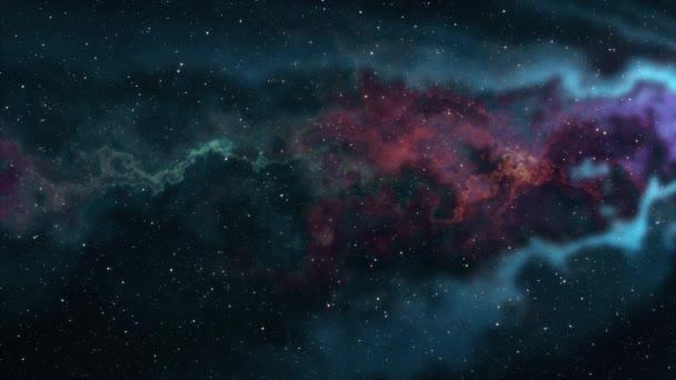 měkká pohybující mlhovina prostor hvězdy noční obloha animace pozadí nové kvality přírody malebné školy cool vzdělání barevné světlo videozáznam