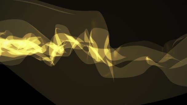 jemné kouřové žluté stužky jemný tok mává digitální simulace turbulentní abstraktní animace pozadí nové kvalitní dynamické umění pohybu barevné cool pěkné krásné 4k videozáznamu